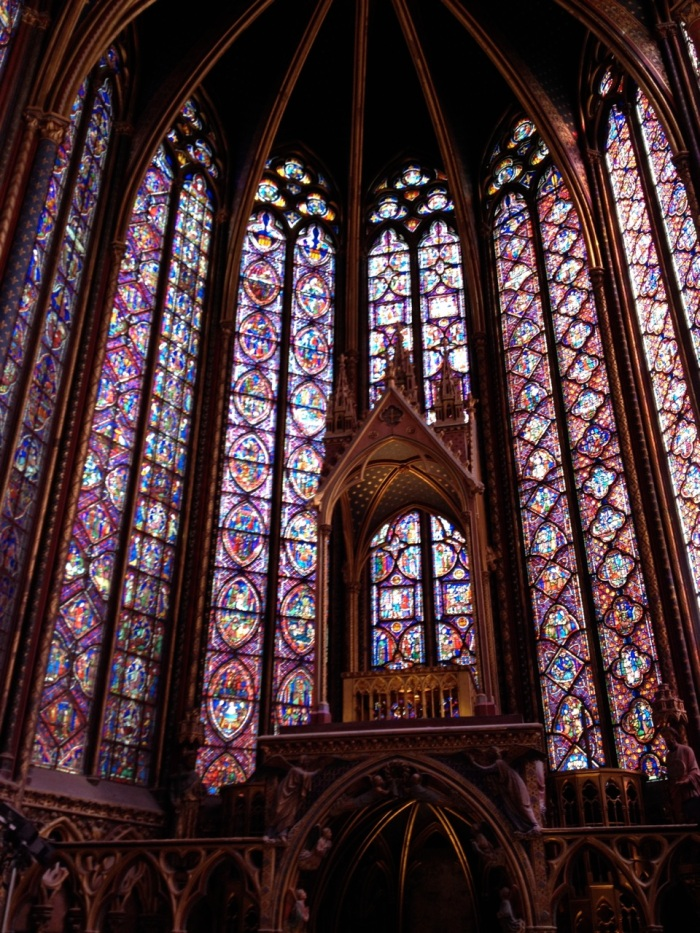 Sainte Chapelle was a sight, for sure, but by this time we were in our slump for the day, having been on our feet already for eight hours and now feeling the hot sun and fighting the enormous Sunday-in-August crowds. Still, it was magnificent and worth it.