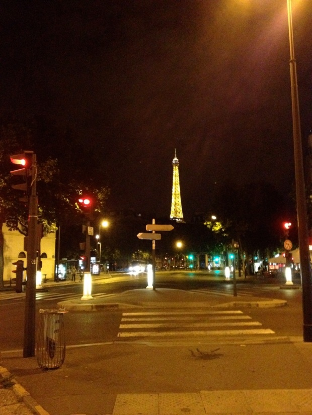 "Walking ""home"" through Paris at midnight was fun."