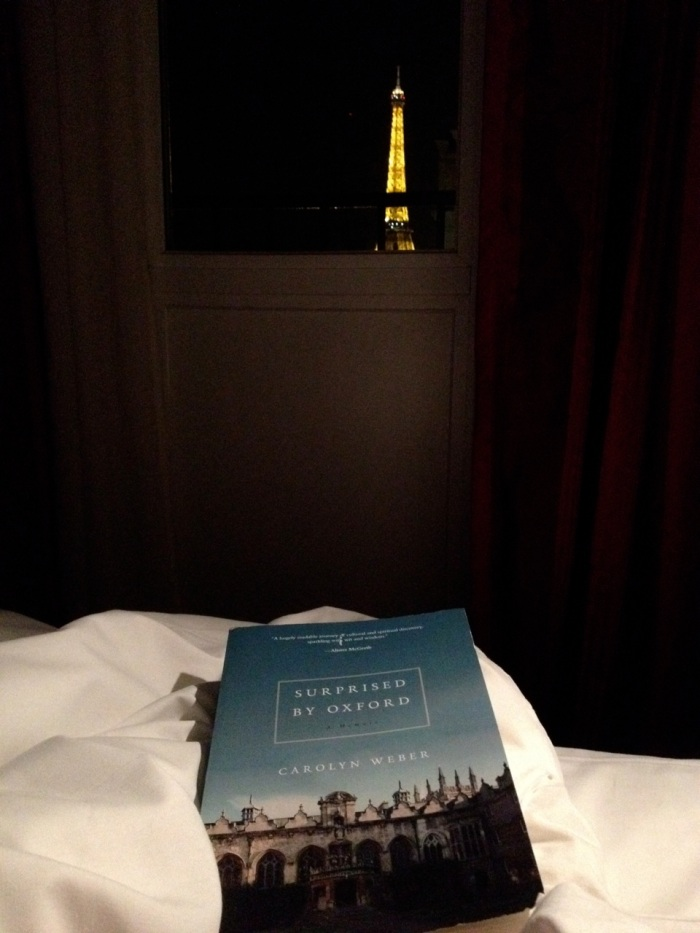 I don't always read in bed, but when I do I can see the Eiffel Tower with my head on my pillow.