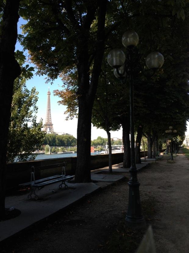 I had fun snagging random shots of the Eiffel Tower framed in various ways...