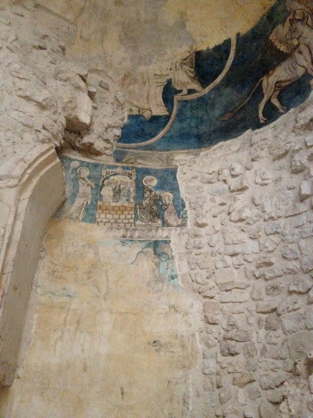 This bit of fresco dates from the 1300s.