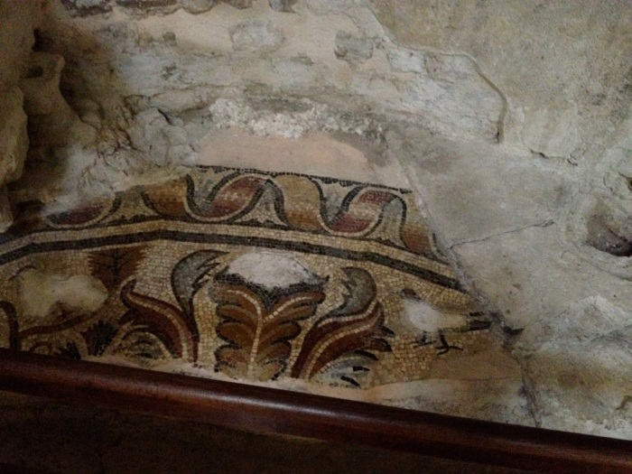 And this mosaic is from the sixth century.
