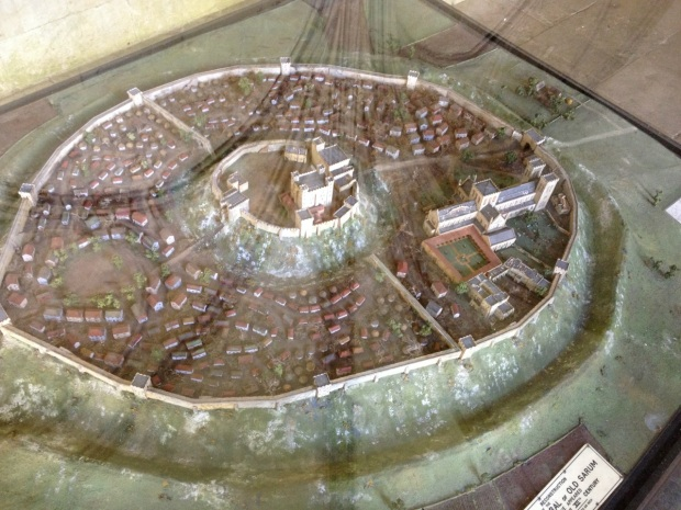 This is a tiny cast of the Medieval town