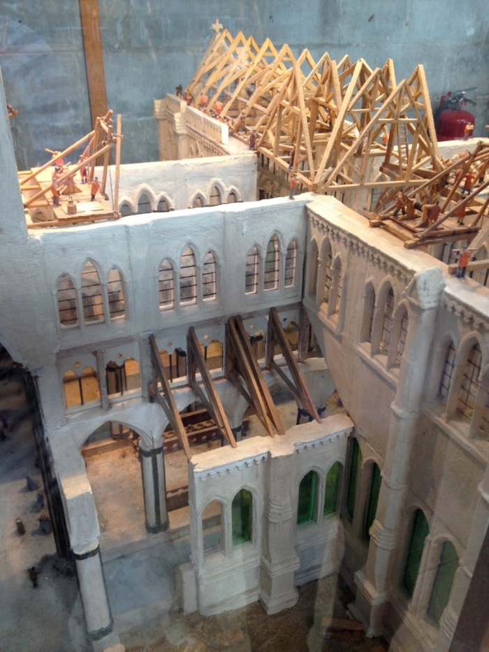 And this was a model of the cathedral in progress, complete with things like the hut where the iron welding would've taken place and such things like that.