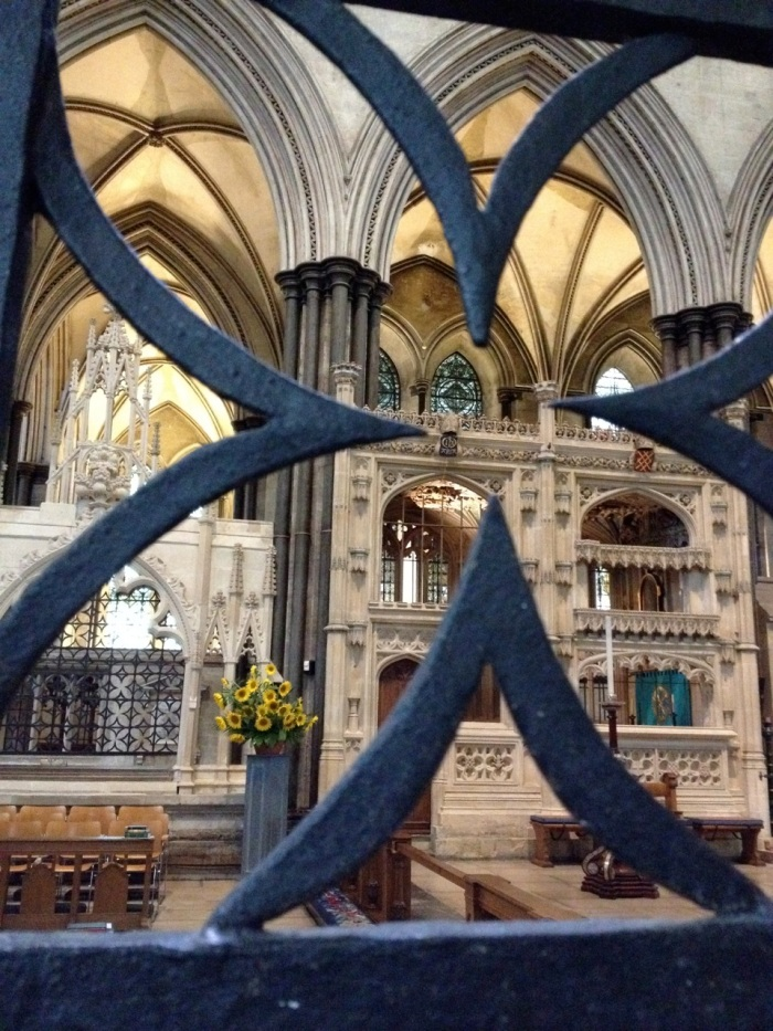 The cathedral had sunflower bouquets (although fake) everywhere. The only flower big enough to fill a cathedral...