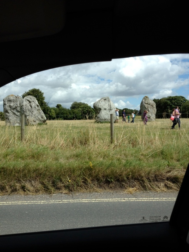 This was one of our drive-by shots of Avebury Stone Circle