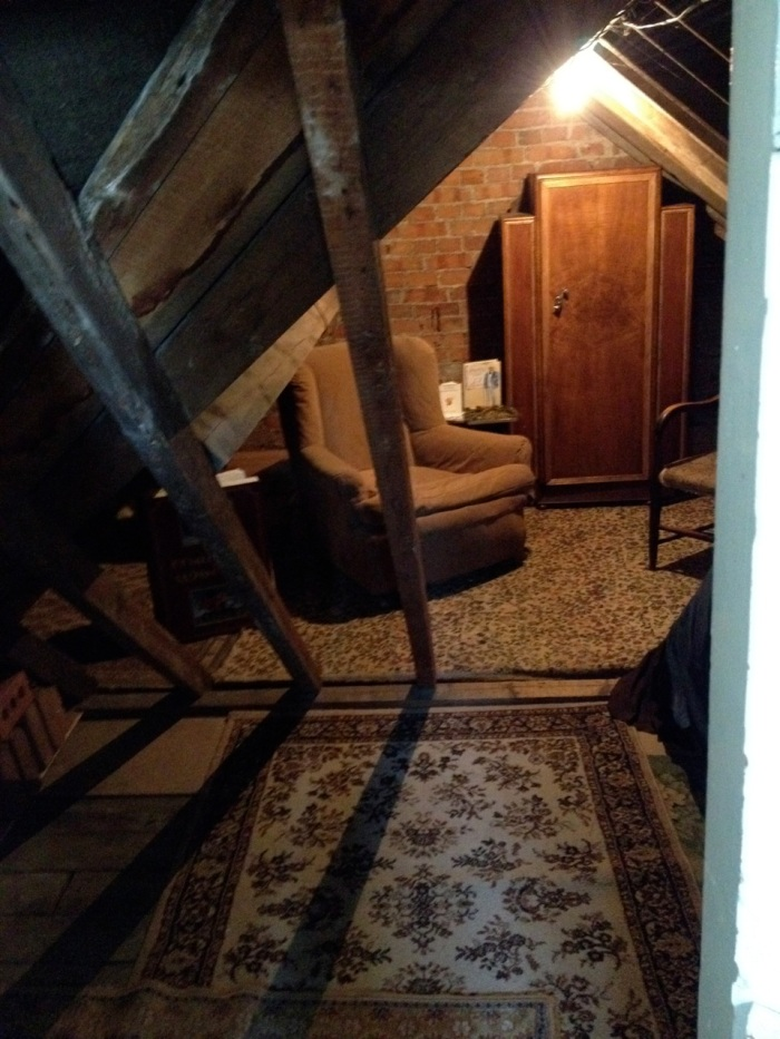 If you've watched the 1993 Anthony Hopkins / Debra Wenger Shadowlands, you will recognize this spot. The attic where they filmed the poignant moment between Lewis and his step-son after Joy's death.