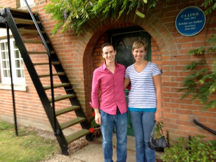 The lady on our tour who took this photo shook the camera, but I had to include it anyway: this staircase was built by Lewis when Mrs. Moore lived with him. Her bedroom was adjacent to his and you couldn't access his without walking through hers. So his way of handling the impropriety was to build a fire escape staircase into his room, and there it still stands.