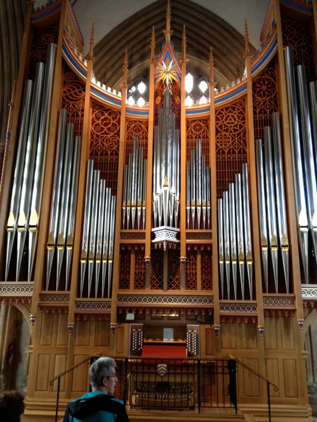 The brand new Dobson organ in Merton College Chapel