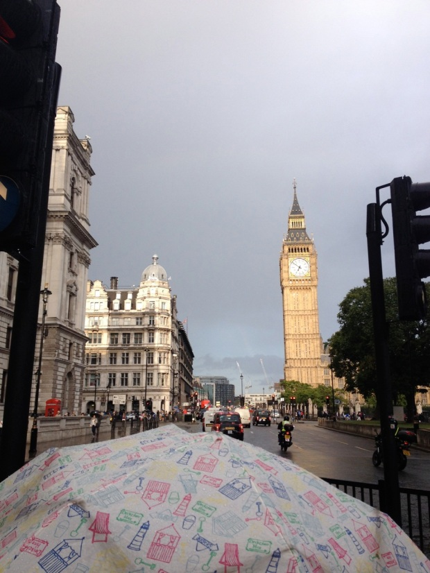 My first view of Big Ben, was we dashed through the rain to reach Westminster Abbey in time...