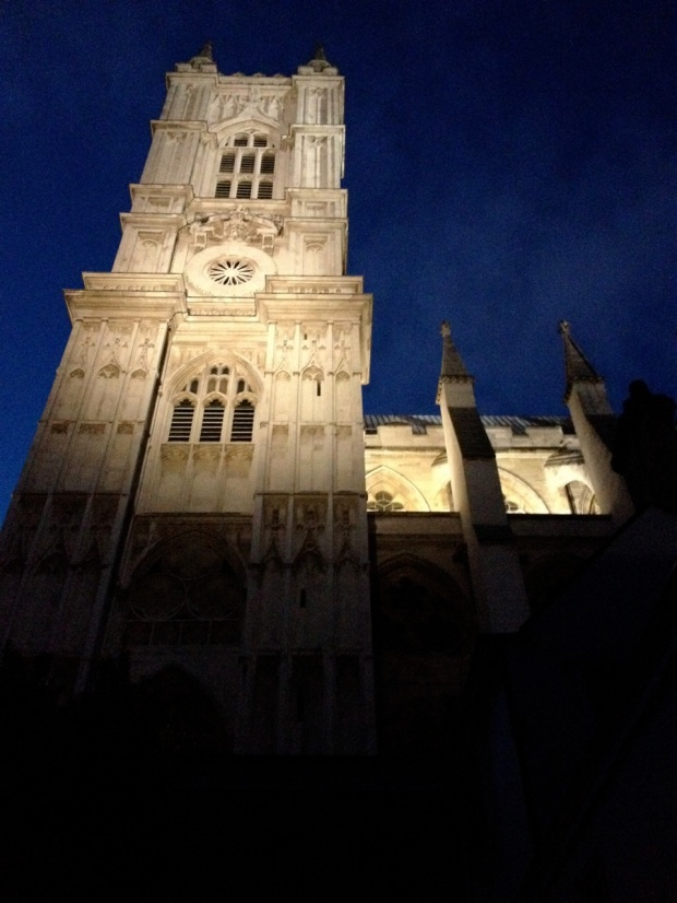 Westminster Abbey by night