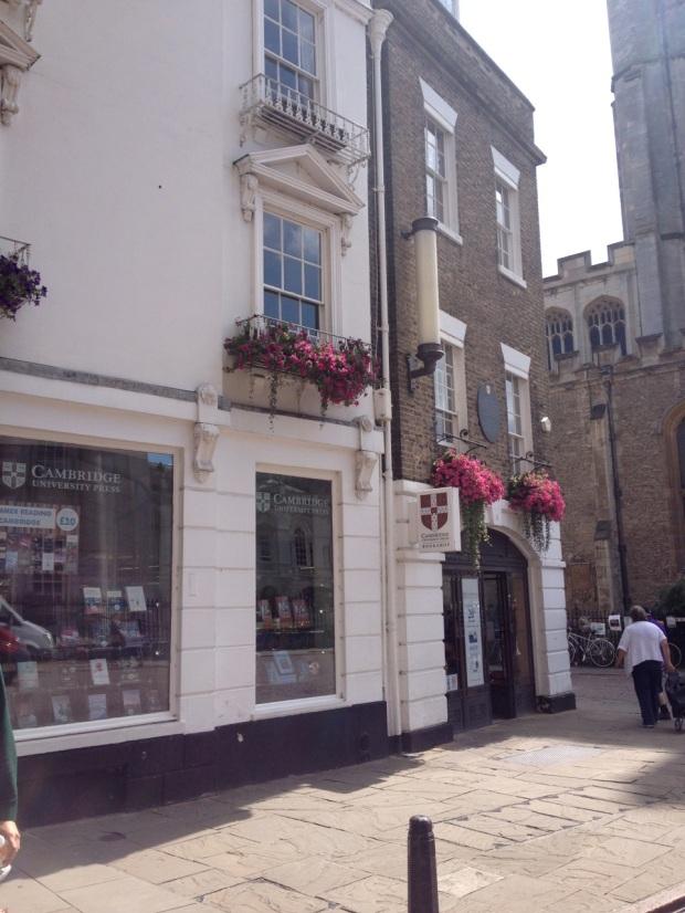Cambridge University Press Bookshop. I managed to not go in.