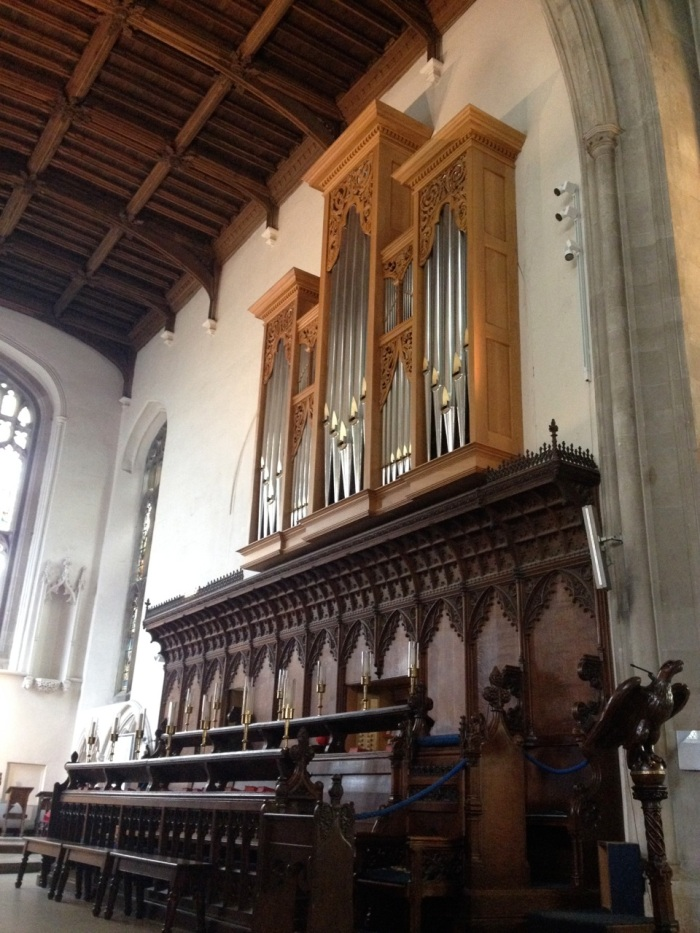 The organ in St. Mary's church