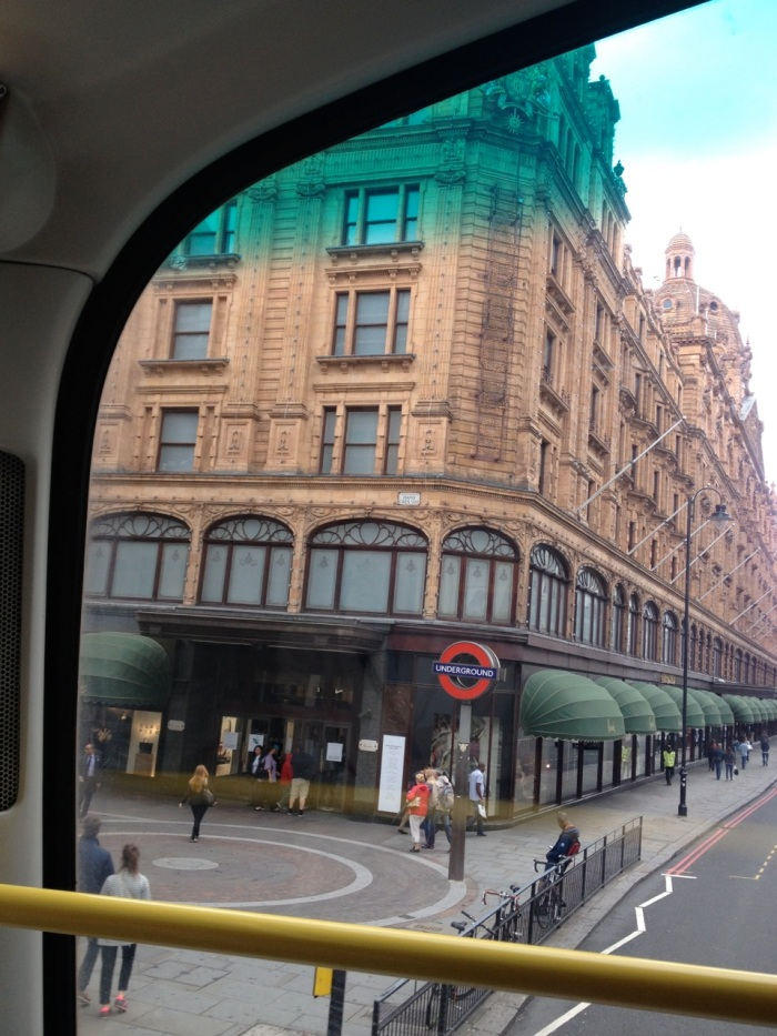 The famous Harrod's department store, which we passed on our bus ride to the museum.