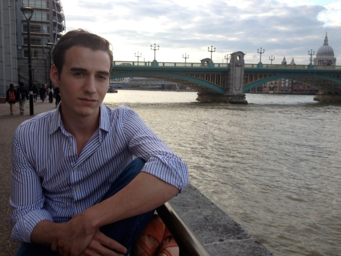 Chilling by the Thames at the end of the day.