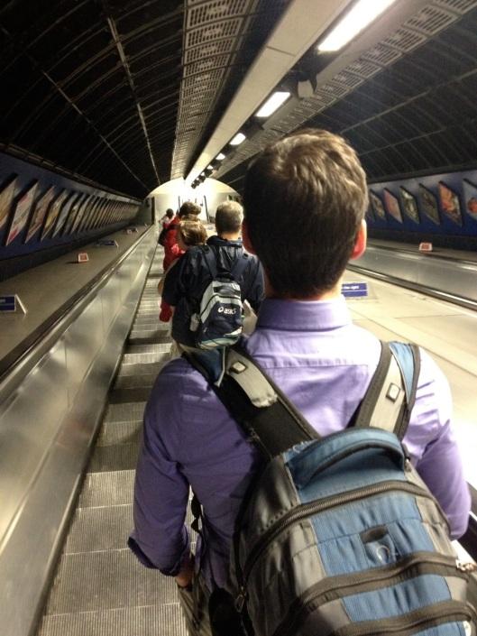 Descending into the underworld of the Tube...again.