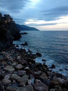 It was a 20 minute walk along the coast to reach the town center, on the other side of this little castle. I got up at the crack of dawn and walked with my book down to the pier.
