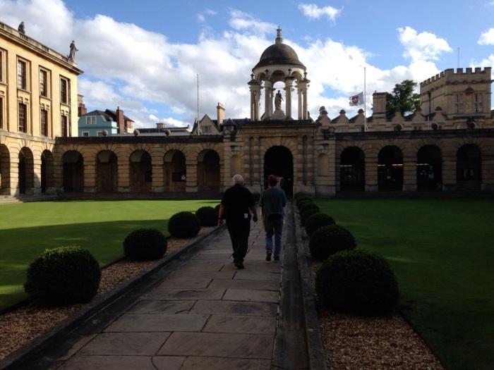 Leaving Queen's College Chapel