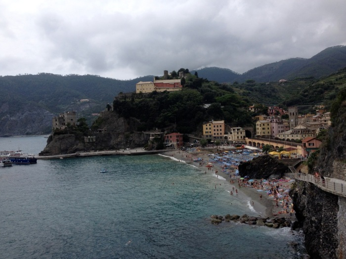 Monterosso, from the trail