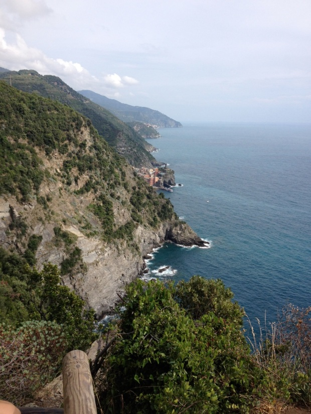 At the center of this picture you can see Vernazza, our destination. The hike took a little under 2 hours.