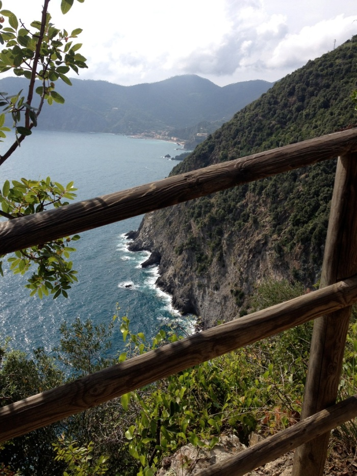 In the distance, Monterosso.
