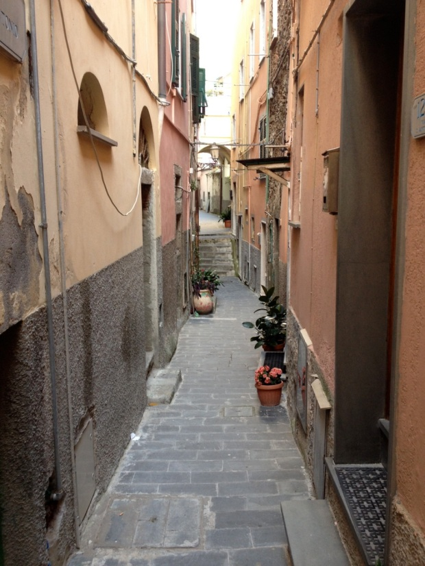 The streets were so very, very narrow in these old European towns.